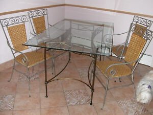 Metallic bronze style kitchen set for sale. Ideal for an atrium.