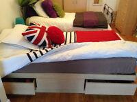 Base de lit simple en mélamine 3 tiroirs