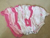 Baby Girls Vest bundle - 3 New baby & 7 0-3 months