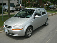 2005 CHEVROLET AVEO HATCHBACK (RUST FREE) EXCELLENT FUEL ECONOMY