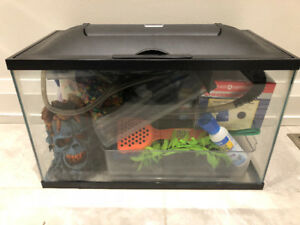10 Gallon Fish Tank and Accessories