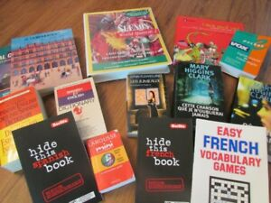 Collection of French and Spanish language books
