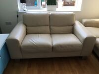 2 seater Italian leather sofa from Maskreys Cardiff. £1700 rrp