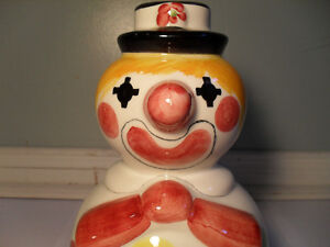 1960's Holt Renfrew Ceramic Clown Coin Bank Made In Italy