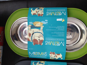 New! Messy Mutts green double silicone feeder set Kitchener / Waterloo Kitchener Area image 2