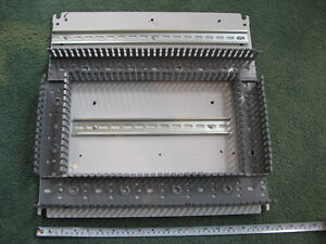"Electrical Box Insert with Wire Guides and DIN Rails 18"" Square"