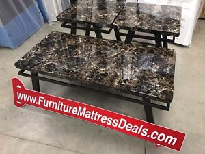 New three piece set, one coffee and two end tables only$280