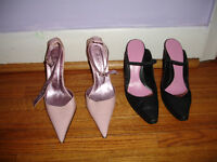 2 pairs of shoes and one pair boots size 38 EU  or 8 US