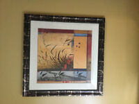 Large framed wall picture for sale