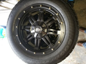 """20"""" Rims and tires - less than 1 year old."""