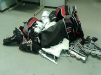 some hockey equipment for sale