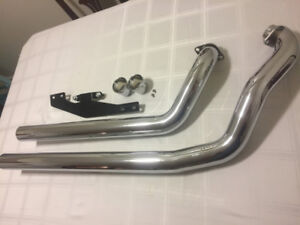 '09-'12 Yamaha V-Star 950 Exhaust Pipes and Fuel Tuner