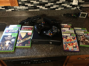 Xbox 360 with connect and bundle of games