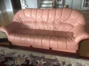 3 seat Leather Couch