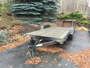18 Feet Flat Deck Auto Hauler by Snake River Trailer Company.