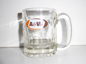 3 VINTAGE 1960s A&W ROOT BEER MUGS - MINT COND.