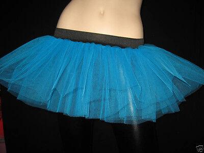Women Adult Plus Size Blue Tutu Skirt Rave Club Dance Party Halloween Christmas - Adult Plus Size Tutu