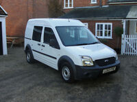 2012(62) FORD TRANSIT CONNECT T230 TDCi - LWB - H/ROOF - FSH - 5 SEAT CREW VAN
