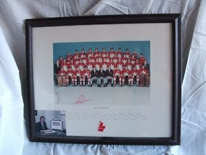 Paul Henderson Autogrpahed 1972 Team Canada Print #/1972
