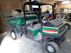CUSHMAN SPREADER/ENVIROJET ATTACHMENT - GOLF COURSE MAINTENANCE