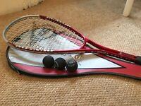 Dunlop C-Max Lite TI squash racquet + 3 squash balls