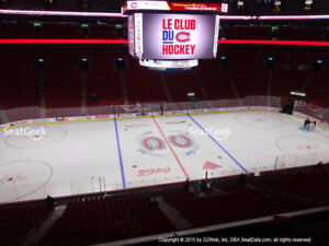 MONTREAL CANADIENS ** 2 BILLETS CLUB DESJARDINS