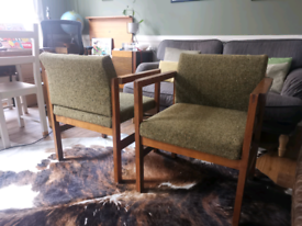 Pair of large mid century chairs