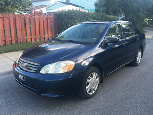 TOYOTA COROLLA 2004 ONLY 125000KM NO RUST