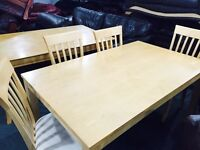 As new dinning table 6 chairs
