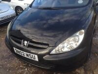 Peugeot 307 14 hdi long mot cheap on tax and insurance 395