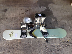 Snowboard, boots, helmet and goggles to good home