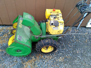 John Deere 826 snowblower