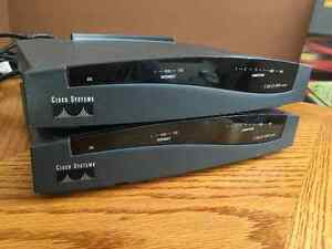 Pair (2X) Cisco 806 routers with power supplies