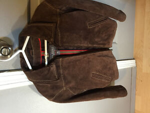 Boys Wilson leather suede coat