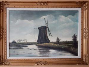 Original windmill painting