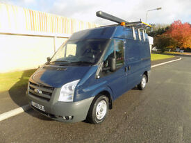 FORD TRANSIT 300 SWB SEMI HIGH 2.2 FWD 85 BHP 2010 60 IN BLUE