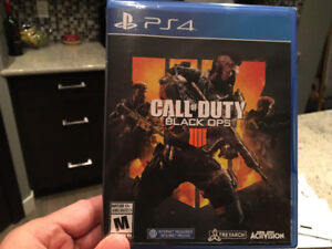 FS: call of duty black ops 4 pS4 $70 firm (unopened)