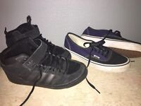 Men's/boys size 7 adidas trainers boots and vans