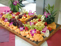 Party Fruit Table and Trays with Catering Service for your Party