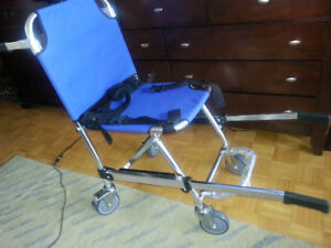 Stair transport chair,  foldable, aluminum,  new