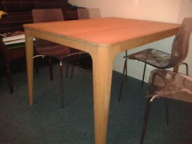 Mira Solid Oak Danish Dining Table and 4 Moulded 'Gel' Chairs, all from John Lewis