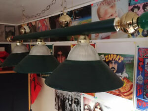 Pool Room Lights, Cues and other Mancave Items for Sale