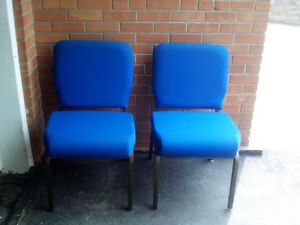 Blue Padded Chairs - 26 Available