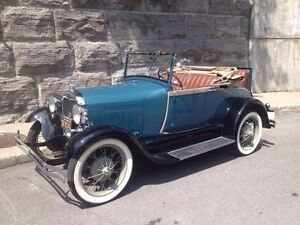 FORD 'A' ROADSTER CABRIO,1928,SHOW ROOM,ROTISSERIE,IMPECCABLE