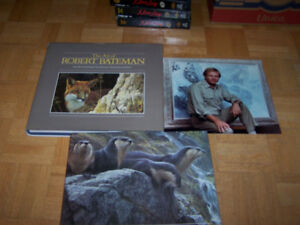 ROBERT BATEMAN - 2 books and Photo signed