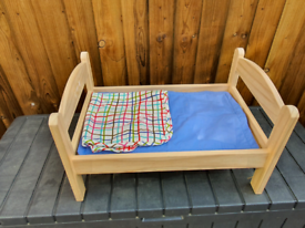 Wooden Baby bed for dolls