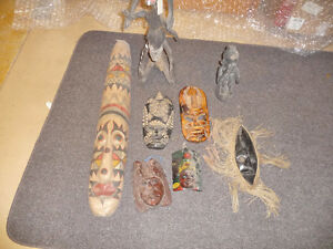 Assorted Masks and Statues