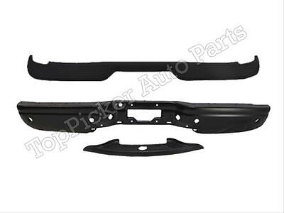 For 00-05 FORD EXCURSION REAR STEP BUMPER BAR BLK TOP CENTER PAD BLK W/HOLE 3PC