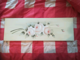 Beautiful hand painted floral canvas