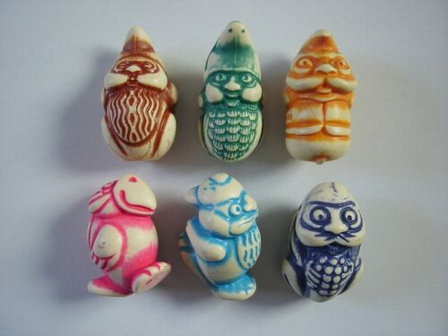 KINDER SURPRISE COLLECTION - 5 STONE FIGURINES SETS ANIMALS DWARFS GNOMES TOTEMS